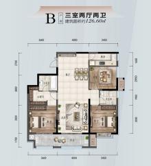B户型三室