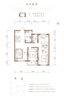 C1户型116㎡三居