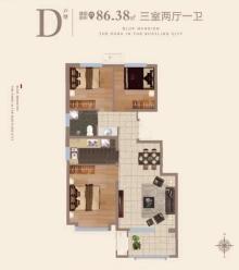 D户型86m²三居