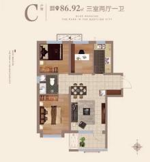 C户型86m²三居