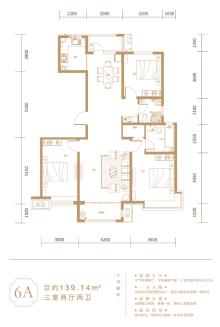 6A户型139㎡三室