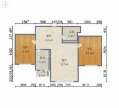 出售(安次)君兰苑2室2厅1卫78平简单装修