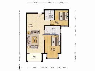 (固安)天园小区(一期)2室2厅1卫95万85m²出售