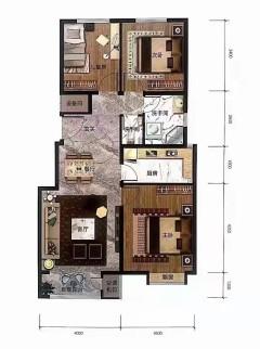 出售(开发区)鸿坤理想城2室2厅1卫97.24平毛坯房