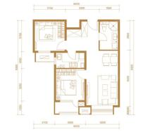 B1户型,2室2厅1卫