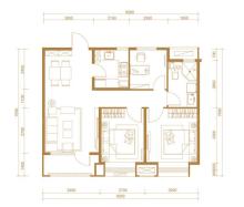 D1户型,3室2厅1卫