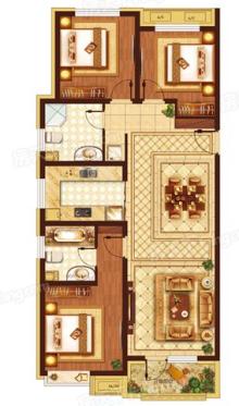 126平米三居户型