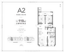 A2户型-3室2厅2卫-110.0㎡