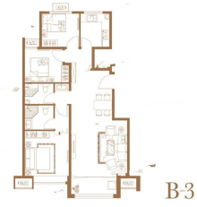 B3户型三室