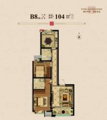 B8户型 104㎡两居